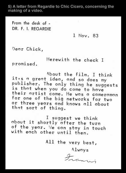 Regardie Letter 5